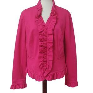 INC International Concepts Ruffled Zip Jacket Coat